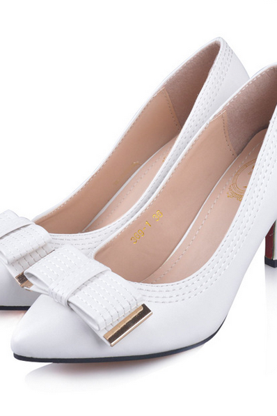 In the autumn of 2015 new high-heeled shoes with pointed fine Bow Shoes