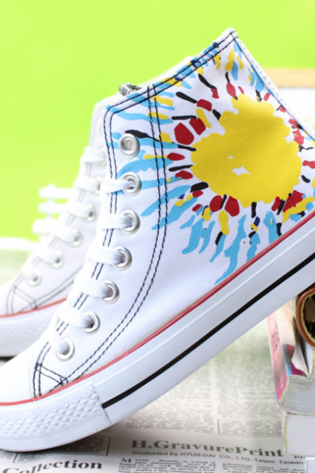 2015 printing Gao Bang canvas shoes lady