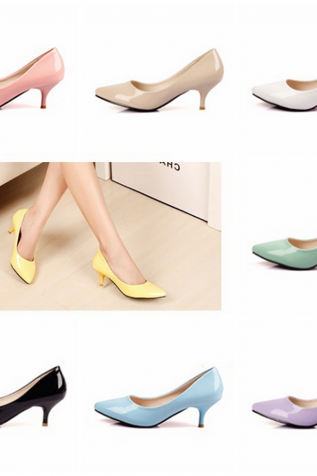 In the autumn of 2015 new high-heeled shoes with pointed shoes in Europe and America thin shallow mouth shoe Sexy Singles low for shoes