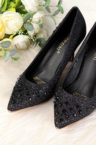 Europe in the autumn of 2014 new diamond pointed shoes heels shallow mouth crystal wedding shoes