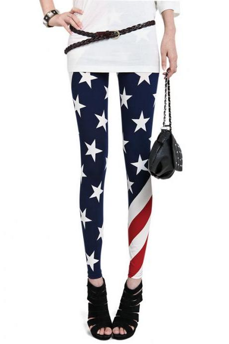 Usa American Flag Leggings Tights Pant Trousers