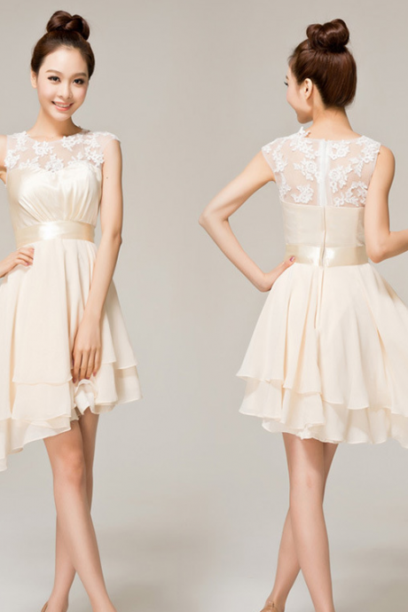 The new fashion lace toast suit small dress bridesmaid