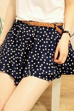 Fashion Brand New Polka Dots Shorts With Belt