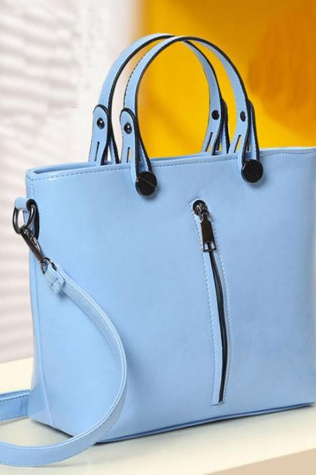 Fashion Elegant Zipper Small Fresh Handbag&Shoulder Bag
