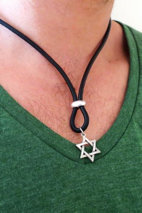 Men's Necklace - Men's Star Of David Necklace - Men's Judaica Necklace - Mens Jewelry - Necklaces For Men - Jewelry For Men - Gift for Him