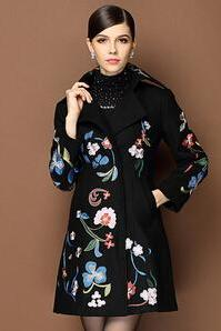 2014 New Winter The Middle-Aged Lady Mother Double Breasted Loose Big Code Long Coat