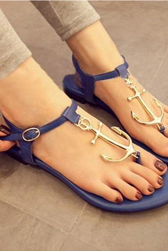 Alloy Anchor Connecting Thong Sandal
