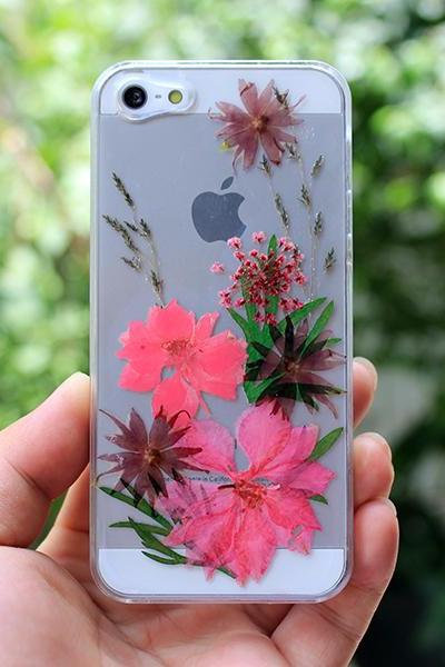 Real pressed flower case,pressed flower iphone 4 case,iphone 5 case ,iphone 5s case,iphone 5c case.Unique flower case
