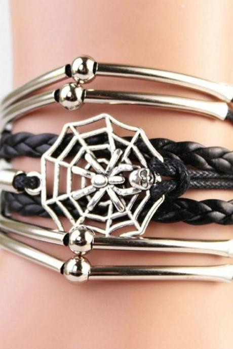 Vintage spider design girl bracelet