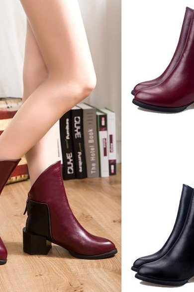 Fashion is thick with small short boots for women's shoes with a short tube in the women's boots
