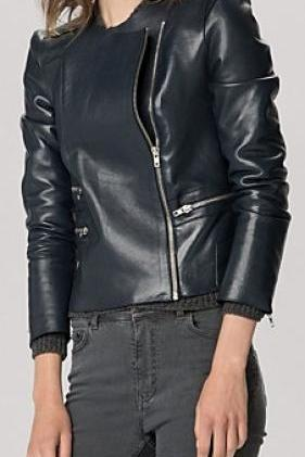 WOMEN BLACK COLOR LEATHER JACKET, LEATHER JACKETS WOMEN, BIKER JACKET WOMEN