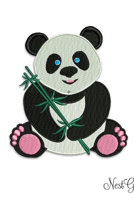 Panda Bear Embroidery Applique - Download Machine Embroidery file