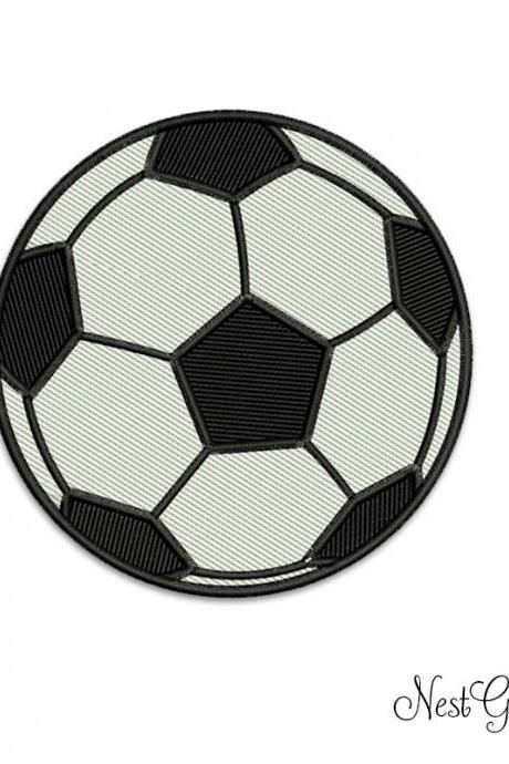 Buy and Download Machine Applique digital file, Soccer ball Embroidery design