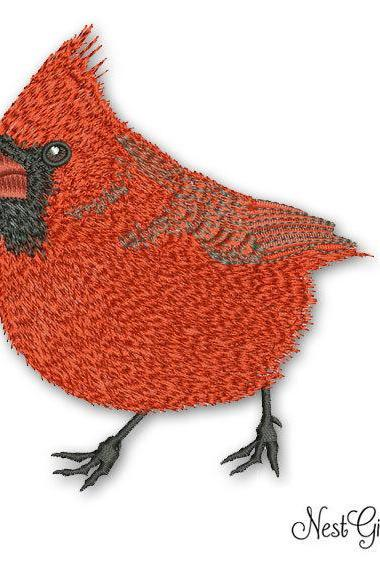 Machine Embroidery Cardinal Bird Applique Digital file
