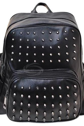 Street Style Black Studded Backpack