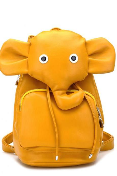 Lovely Elephant Backpack&Bag-yellow