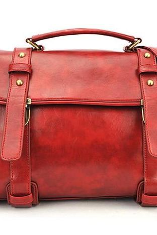 PU Leather Messenger Bag, Shoulder Bag, Tote Bag