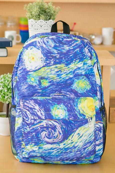 Cool Clouds Graffiti Canvas Backpack