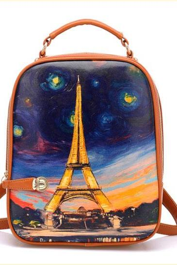 Fresh Cute Effie Tower Paint Backpack