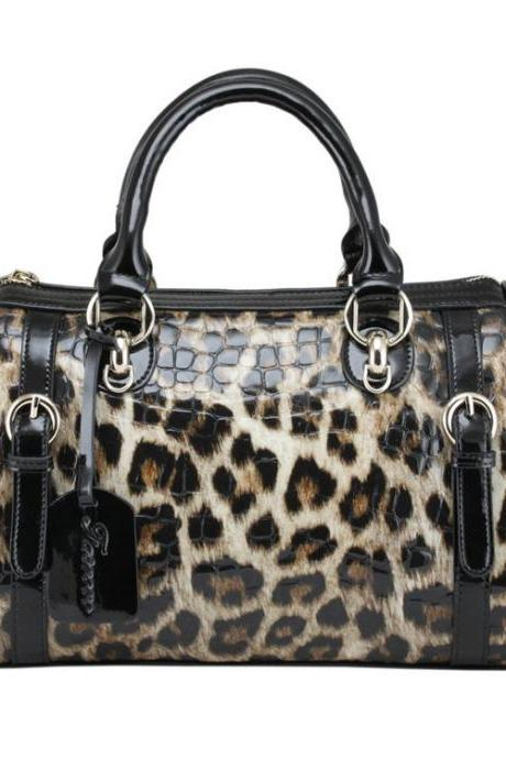 New Leopard Printed Leather Handbag