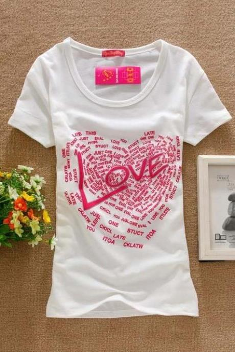 Love messages sweet teenage girl tee