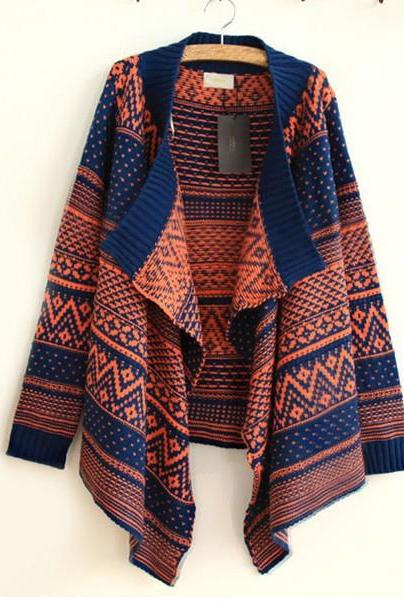 sexy Patchwork Worsted Sweater