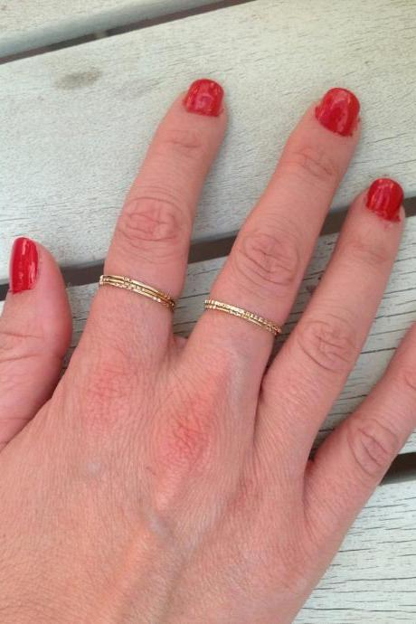 Gold ring, Stacking ring, thin gold ring, simle rings, tiny rings, gold thin rings- RR2