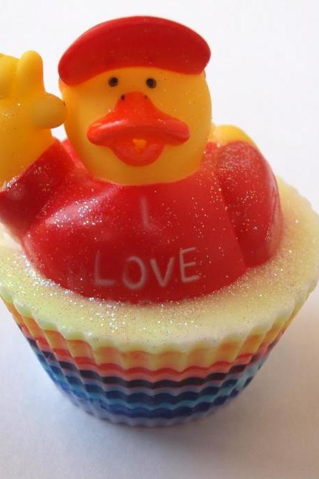 I LOVE YOU ducky soap