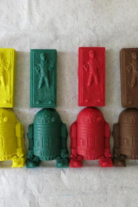 R2D2 and Han Solo Crayon Set of 12