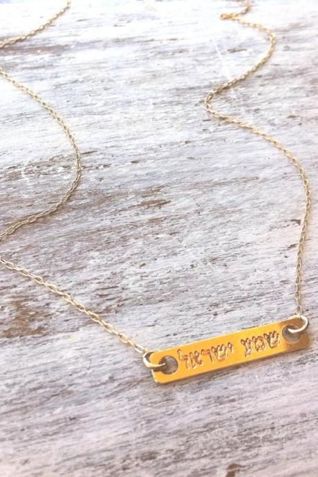 Gold necklace, shema israel necklace, delicate necklace, jeweish jewelry, luck necklace, traditional necklace 609