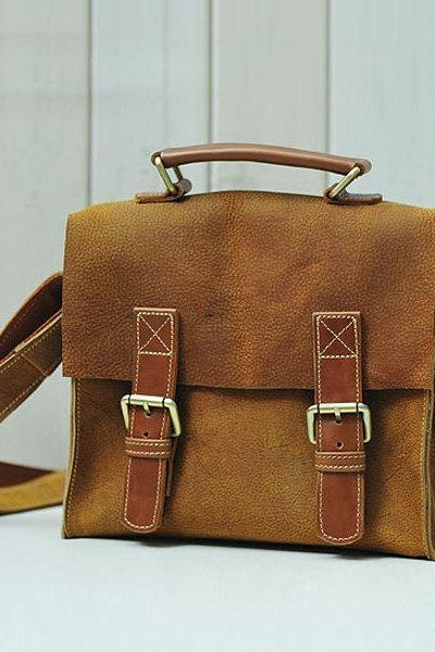Limited Edition Front Flap Leather Messenger Bag