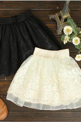 Sweet embroidered lace skirts AX102303ax
