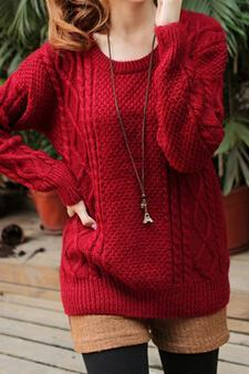 Sweet Round Neck Knit Sweater Ad101118Jl VA8TYV42QUJIN4FDM3W5G