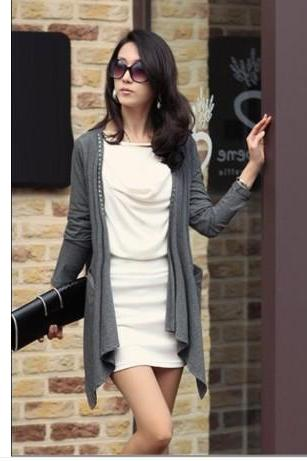 Slim long-sleeved cardigan sweater ZZ1024G
