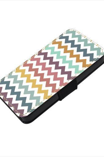 Colorful chevron - canvas PU leatherette flip wallet iphone 4 4s case iphone 5 5s 5c case, S2 i9100 S3 i9300 S4 i9500 S5 case Note 1 2 3 case