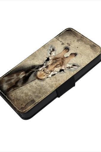Vintage giraffe - canvas PU leatherette flip wallet iphone 4 4s case iphone 5 5s 5c case, S2 i9100 S3 i9300 S4 i9500 S5 case Note 1 2 3 case
