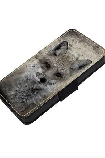 Vintage fox - canvas PU leatherette flip wallet iphone 4 4s case iphone 5 5s 5c case, S2 i9100 S3 i9300 S4 i9500 S5 case Note 1 2 3 case