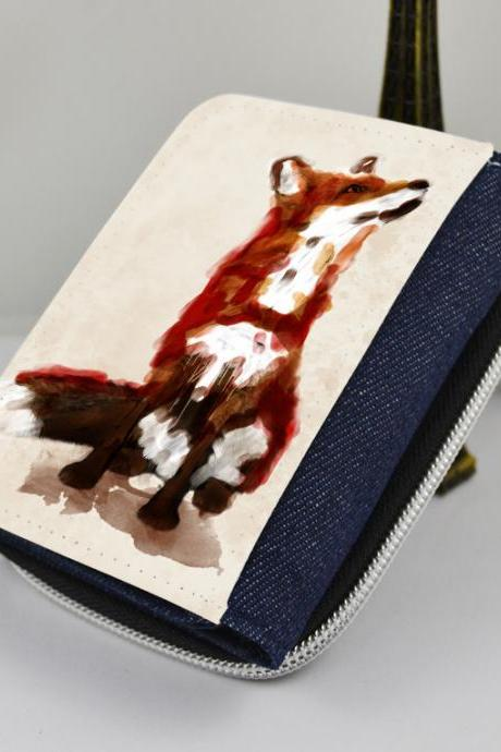 Fox - canvas women's wallet