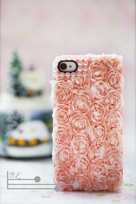 Lace Rose Pearl Iphone 5s Case Iphone 5 Case Iphone 5 Cases Iphone Hard Case Iphone Cover Bling Handmade