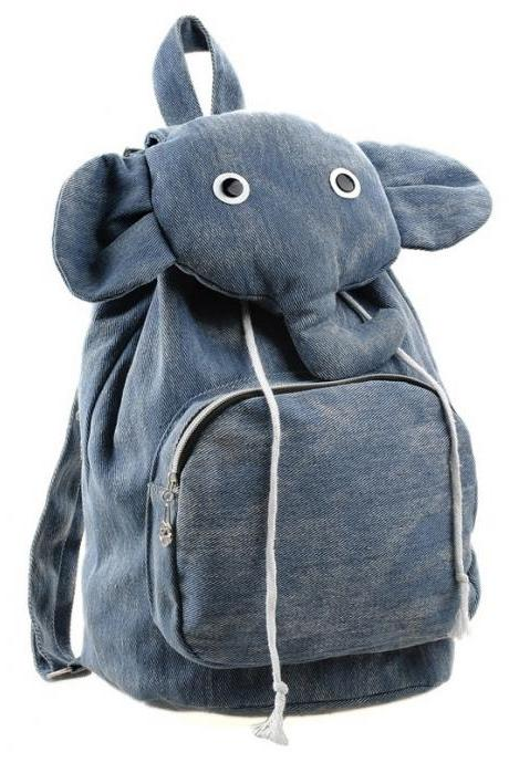 Lovely Elephant Canvas Backpack