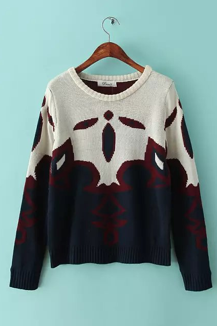 New winter Indian hedge knit sweater