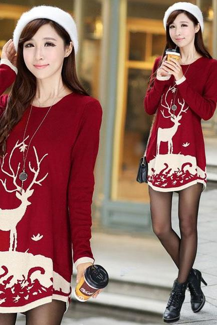 Lovely Irregular Hem Cut Sweater