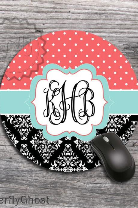Computer Mousepad - Dots and White Lace set design computer mats, office boss gift