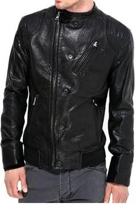 HANDMADE MENS BLACK LEATHER JACKET, MEN BLACK BIKER LEATHER JACKET, BIKER LEATHER JACKETS