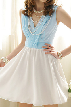 Slim V-neck sleeveless dress SF103010JL