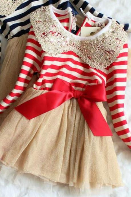 12-24 Months Christmas Dress Infant Girls-Candy Canes Dresses for Girls is READY FOR SHIPPING!