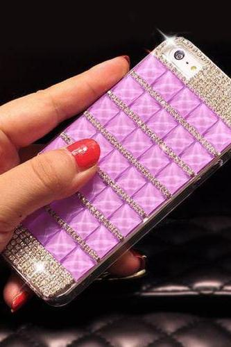 Bling Crystal Diamond iPhone 6 case,Bling iphone 6 PLUS case,Crystal iphone 6 Case,Luxury Bling Crystal iphone 6 PLUS case cover Purple