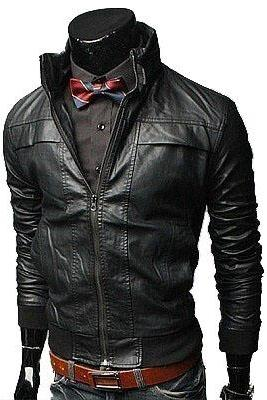 HANDMADE MENS BIKER LEATHER JACKET, MEN BLACK BIKER LEATHER JACKET, SLIM FIT LEATHER JACKETS