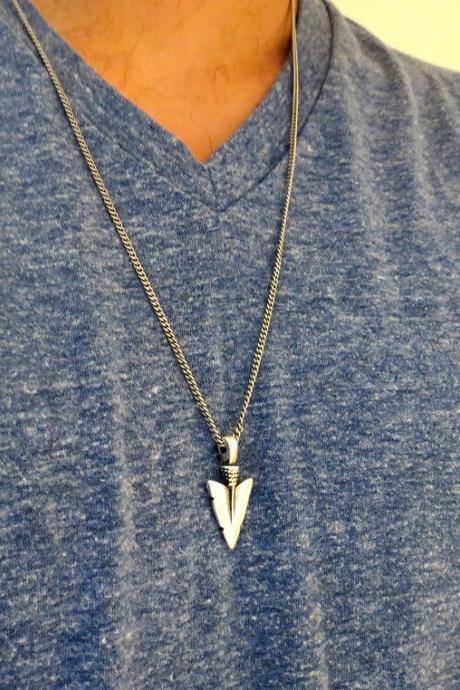 Men's Necklace - Men's Spear Necklace - Men's Silver Necklace - Mens Jewelry - Necklaces For Men - Jewelry For Men - Gift for Him