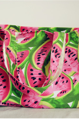Watermelon canvas bag handbag bag